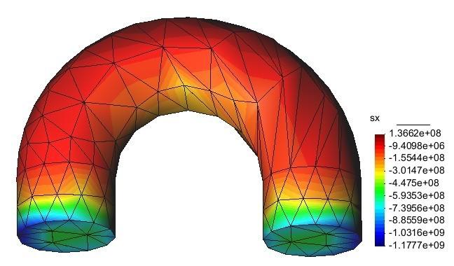 热固电耦合的应力分布图,电子行业数值模拟解决方案