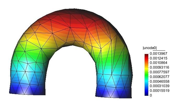 热固电耦合位移云图,电子行业数值模拟解决方案