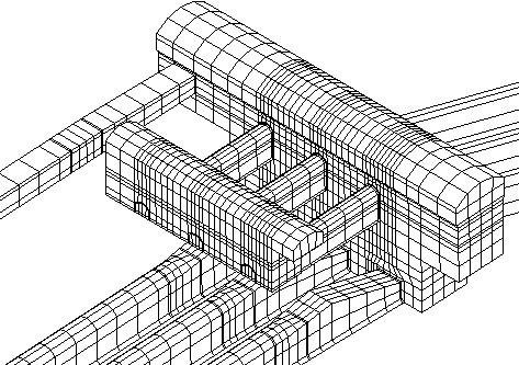 洞室群结构三维有限元网格图,建筑结构行业应用解决方案