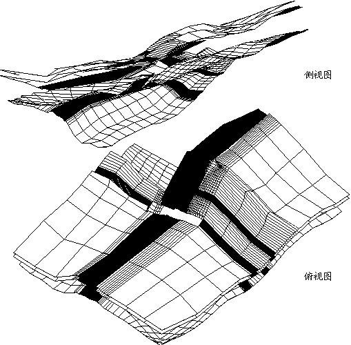 软弱结构面fj2、fj5、fj4部分网格图,建筑结构行业应用解决方案