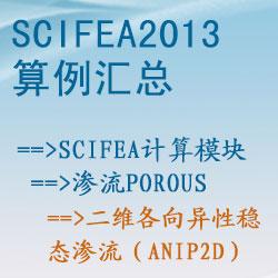 渗流porous的二维各向异性稳态渗流(anip2d)【SciFEA2013算例】
