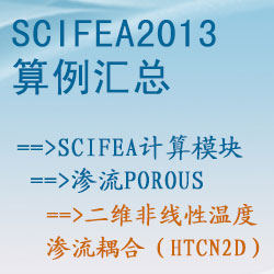 渗流porous的二维非线性温度渗流耦合(htcn2d)【SciFEA2013算例】